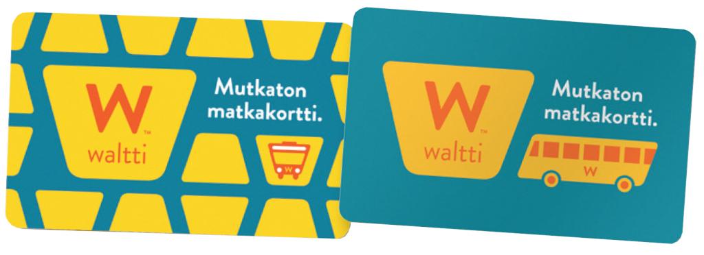 Kajaanin seudun joukkoliikenteen Waltti-matkakortit