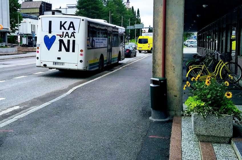 Kajaanin joukkoliikenteen bussi